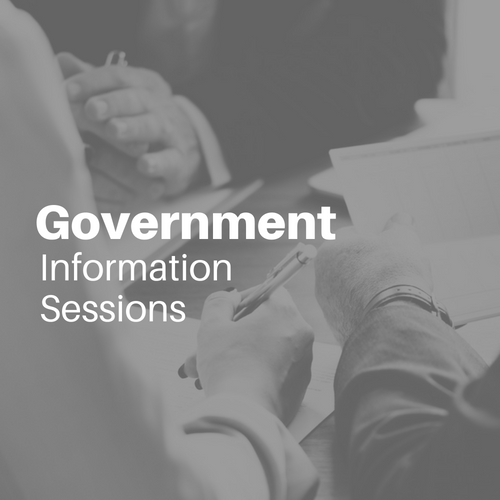 MBEC Government Information Sessions Graphic
