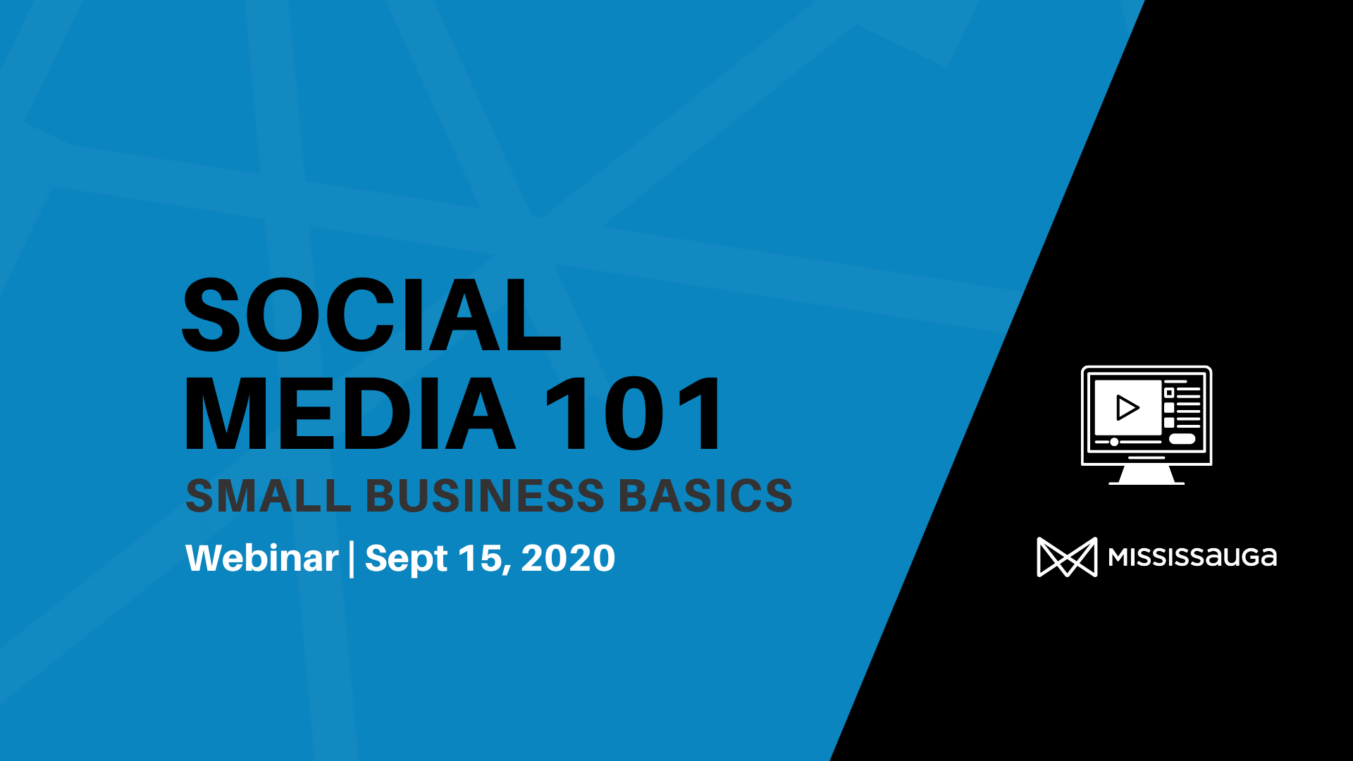 Social Media 101 for Small Business – Webinar, Sept 15