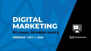 Digital Marketing 101 – Webinar, Oct 1
