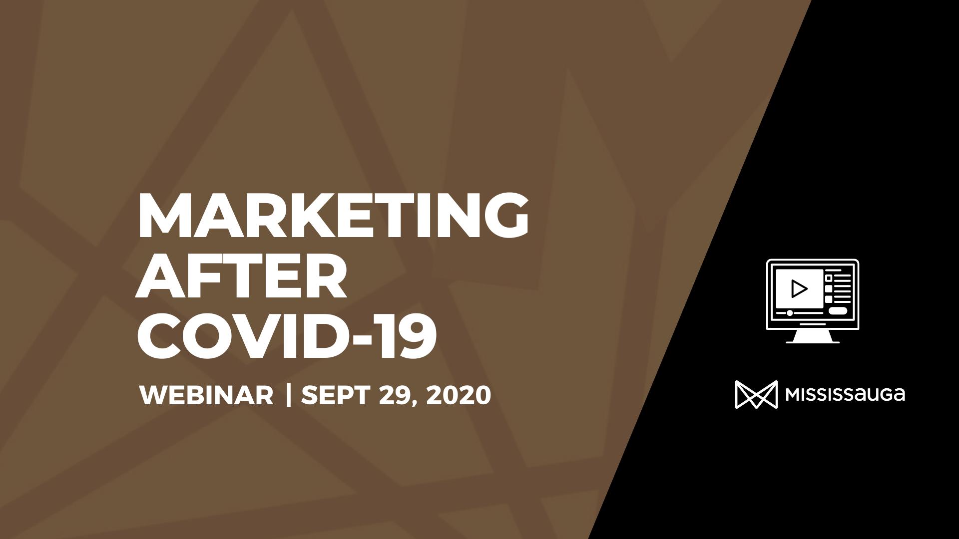 Marketing after COVD-19 – Webinar, Sept 29