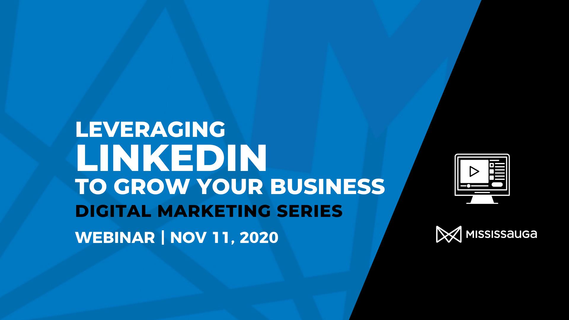 Leveraging LinkedIn to Grow your Business – Webinar, Nov 11