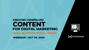 Create Compelling Content for Digital Marketing – Webinar, Oct 20