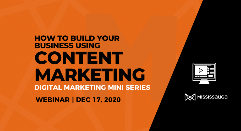 EDO Webinar Build your Business Using Content Marketing Webinar Dec 3 Graphic