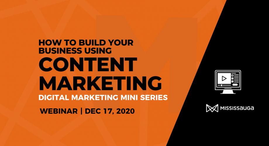 EDO Webinar Build your Business Using Content Marketing Webinar Dec 3 Graphic