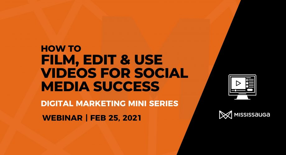 Webinar to learn how to film edit and use video for social media graphic