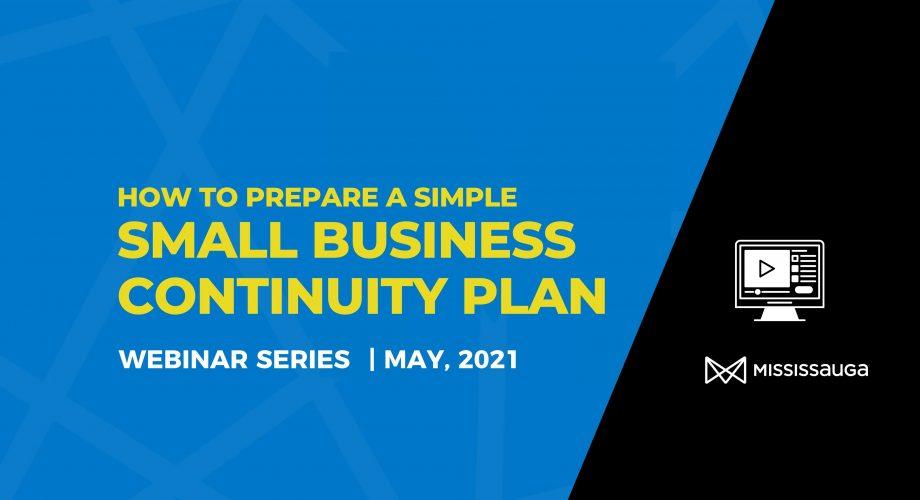 Small Business Continuity Plan Webinar Series