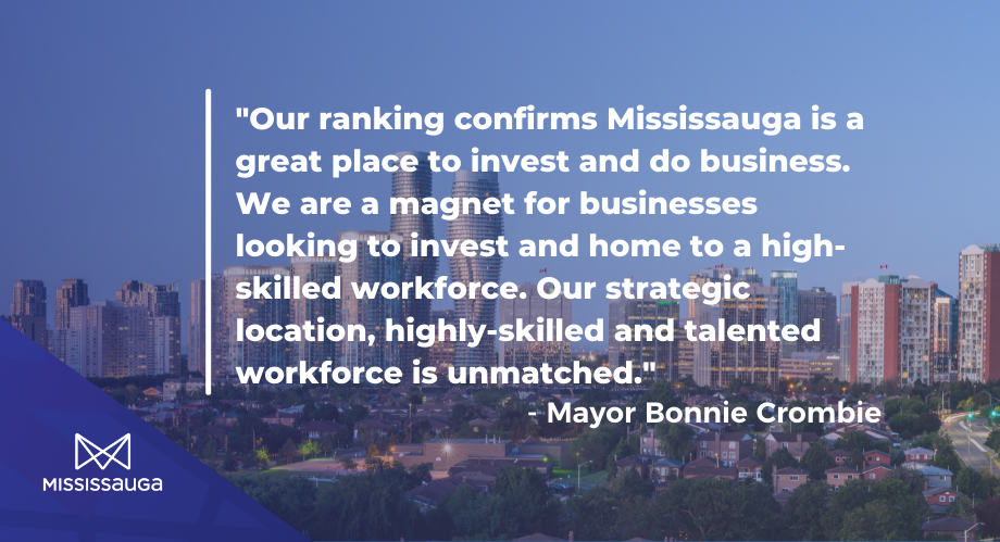 Mississauga Among Top 20 Best Locations in Canada for the 5th Consecutive Year